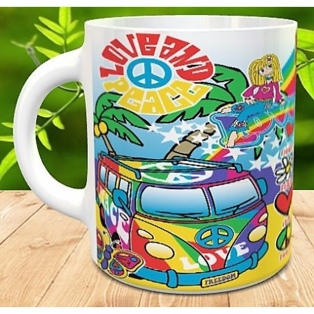 Taza Love flower power
