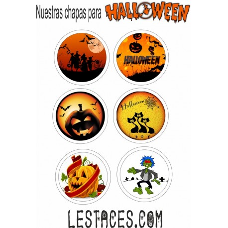 Pack chapas 58mm Halloween