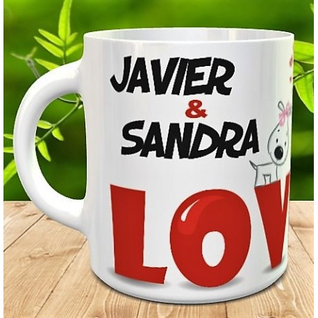 Taza LOVE perritos