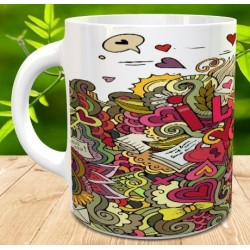 Taza love you multicolor