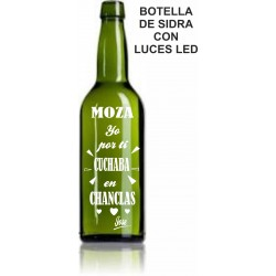 Botella sidra con luces Led