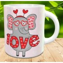 Taza elephant love