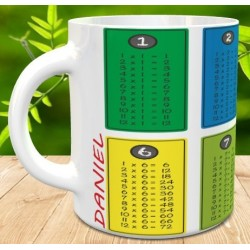 Taza tabla de multiplicar