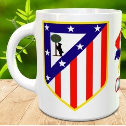 Taza Athletico de Madrid con nombre