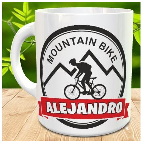 Taza MOUNTAIN BIKE personalizada
