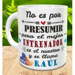 Taza regalo profe de patinaje