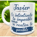 Taza es intentando lo imposible