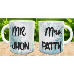 Pack 2 tazas Mr and Mrs